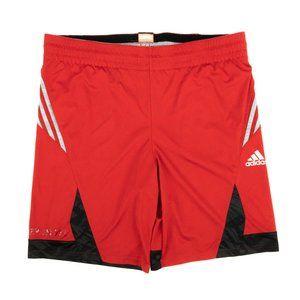 Adidas Basketball Shorts 3 Stripes Red Size Large